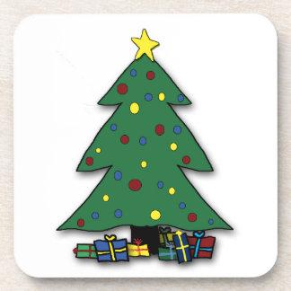 Christmas Tree Cork Coasters