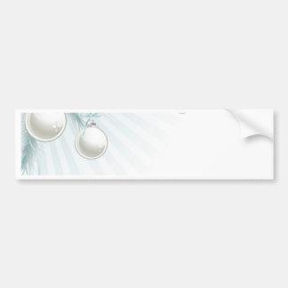 Christmas tree corner element bumper sticker