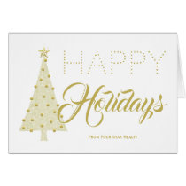 Christmas Tree Corporate Contemporary Holiday Card