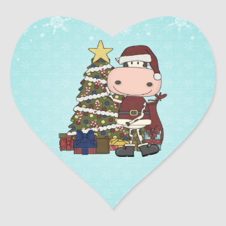 Christmas Tree - Cow Heart Sticker