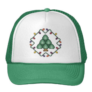 Christmas Tree Cross Stitch Hat