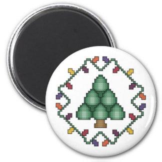 Christmas Tree Cross stitch Magnet