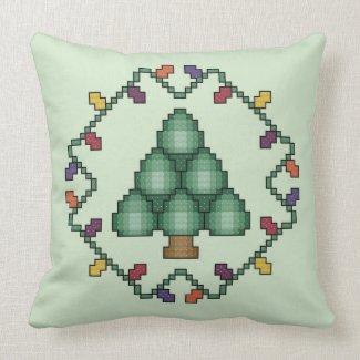 Christmas Tree Cross Stitch Quilt Square