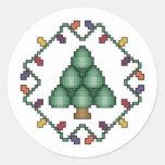 Christmas Tree Cross Stitch Sticker