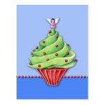 Christmas Tree Cupcake blue2 Postcard