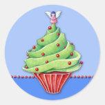 Christmas Tree Cupcake blue2 Sticker