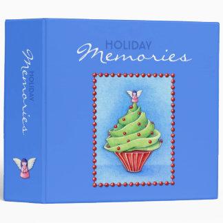 Christmas Tree Cupcake blue Avery Binder