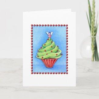 Christmas Tree Cupcake Card card