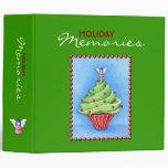 Christmas Tree Cupcake green Avery Binder