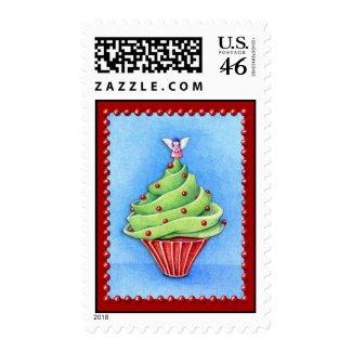 Christmas Tree Cupcake red Stamp stamp
