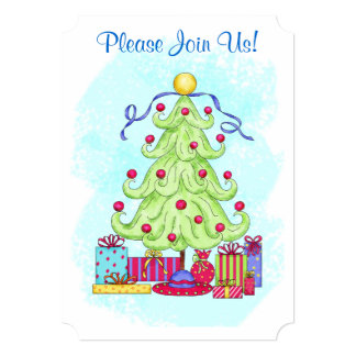 Christmas Tree Custom Invitation Open House