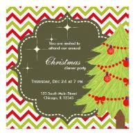 Christmas tree custom invite