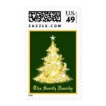 Christmas Tree Custom Postage - Gold and Green