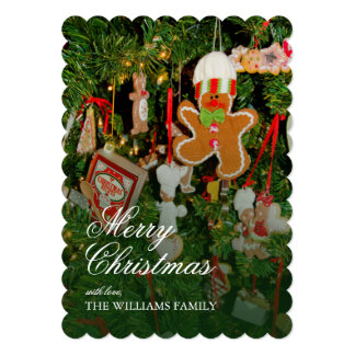 Christmas tree decor - Ornaments, gingerbread man Card
