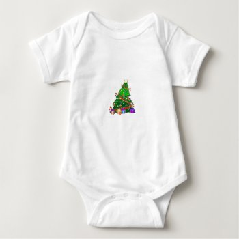 Christmas Tree Decor Wear Baby Bodysuit by creativeconceptss at Zazzle