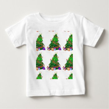 Christmas Tree Decor Wear Baby T-shirt by creativeconceptss at Zazzle