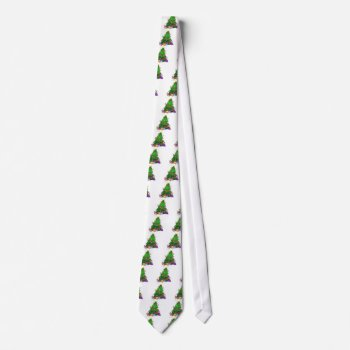 Christmas Tree Decor Wear Neck Tie by creativeconceptss at Zazzle