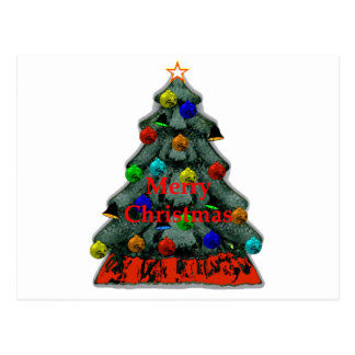 Christmas Tree Decorated The MUSEUM Zazzle Gifts Postcard