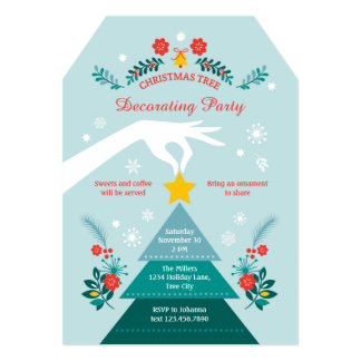 Christmas Tree Decorating Party Invitation