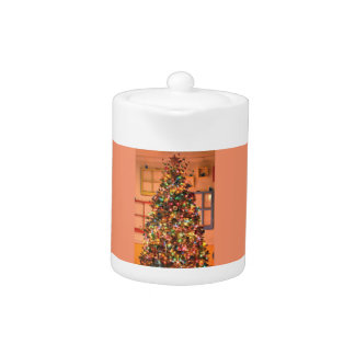 Christmas Tree Decorating Teapot