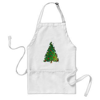 Christmas Tree Decoration Adult Apron