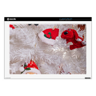 """Christmas Tree Decorations 17"""" Laptop Decals"""
