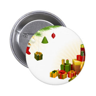 Christmas tree decorations and gifts pin