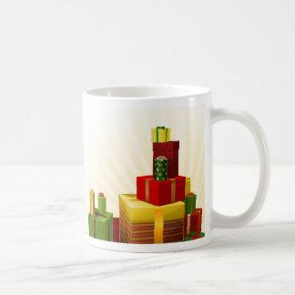 Christmas tree decorations and gifts coffee mug