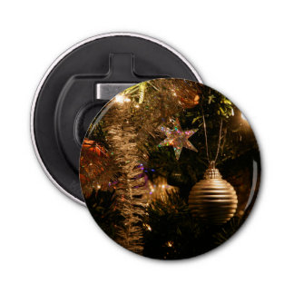 Christmas Tree Decorations Button Bottle Opener