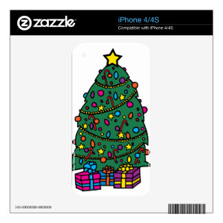 Christmas Tree Decorations Decal For The iPhone 4S