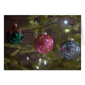 Christmas Tree decorations Greeting Card