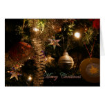 Christmas tree decorations greeting cards