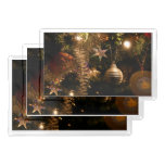 Christmas Tree Decorations Rectangle Serving Trays