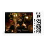 Christmas tree decorations stamp