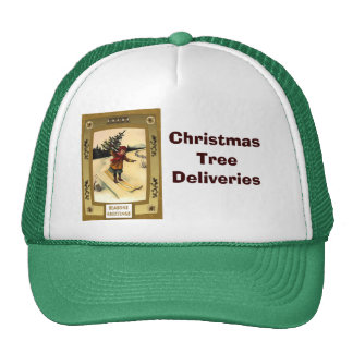 Christmas tree deliveries trucker hat