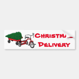 christmas tree delivery bumper sticker