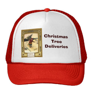 Christmas tree delivery - Cute kid Christmas Hat