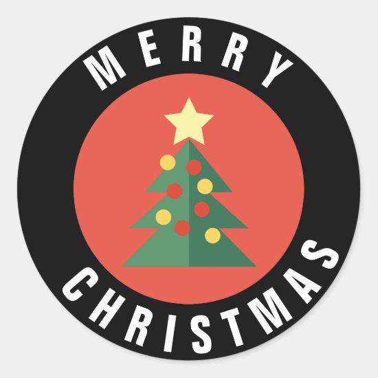 Christmas Tree Design Christmas Sticker