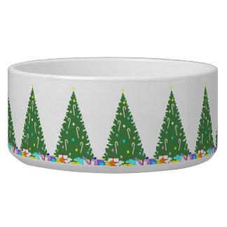 Christmas Tree Dog Bowl