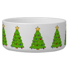 Christmas Tree Dog Bowl at Zazzle