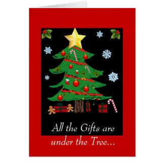 Christmas Tree Doodle Christmas Card