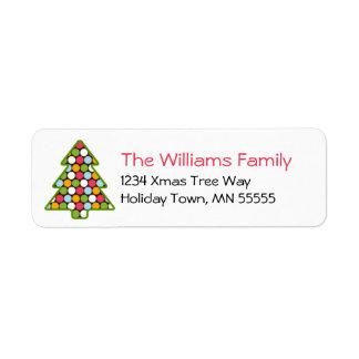 Christmas Tree Dot Address Label