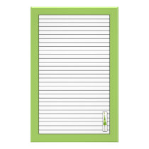 Christmas Tree Drawing Lime Green Lined Stationery