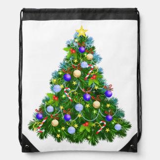 Christmas Tree Drawstring Backpack