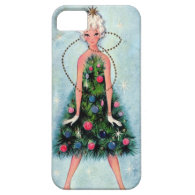 Christmas Tree Dress Case For iPhone 5/5S
