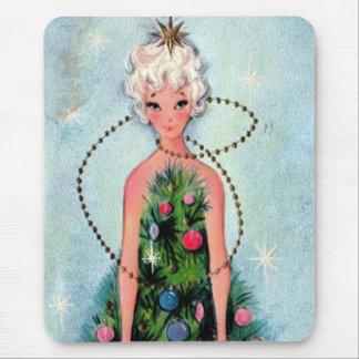 Christmas Tree Dress Mouse Pad