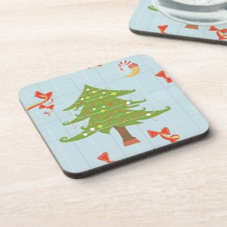 Christmas Tree drink coasters