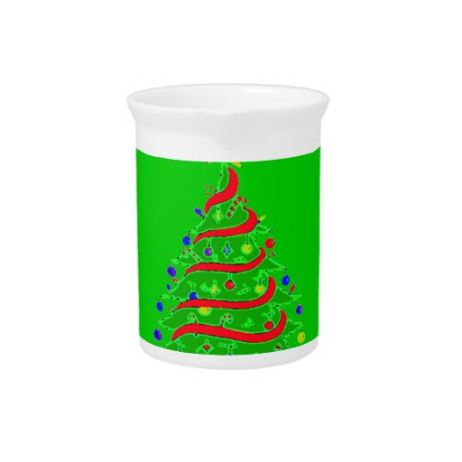 CHRISTMAS TREE DRINK PITCHER