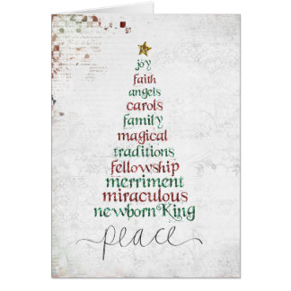 christmas tree ee atcard stationery note card