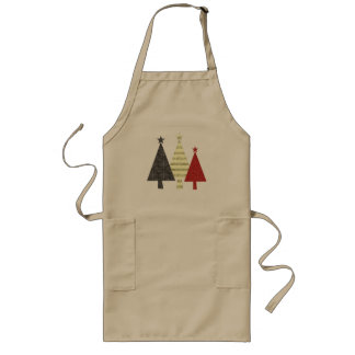 Christmas Tree Elegant Stylish Pattern Minimal Long Apron